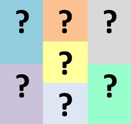 7 question marks